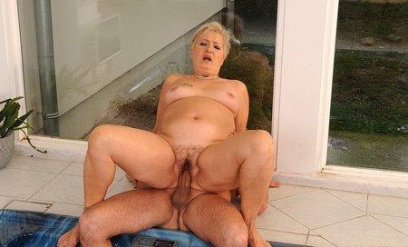 Fat granny fuckingmature-woman-satisfied-7
